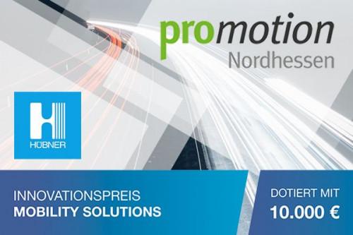 Innovationspreis Mobility Solutions, Logo Hübner, Logo promotion Nordhessen