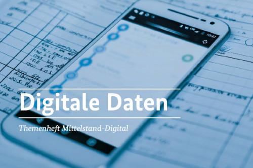 Cover Themenheft Digitale Daten von Mittelstand-Digital